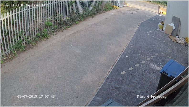 footage of Flat 4 driveway from our installed CCTV, at 5 PM