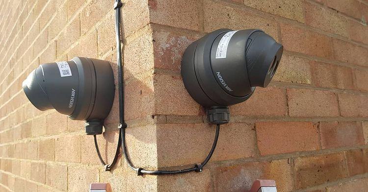 4k UHD security camera installation