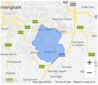 Solihull city map